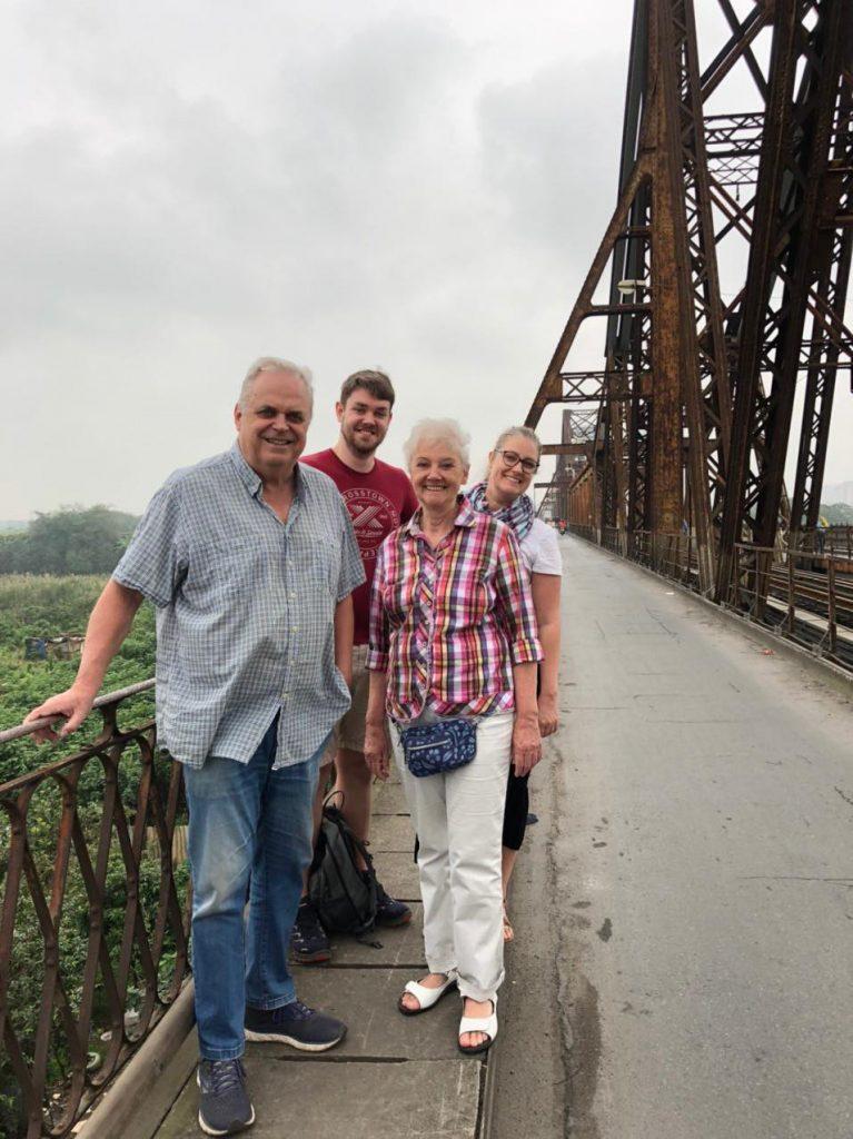 Visiting a historical site: Long Bien bridge