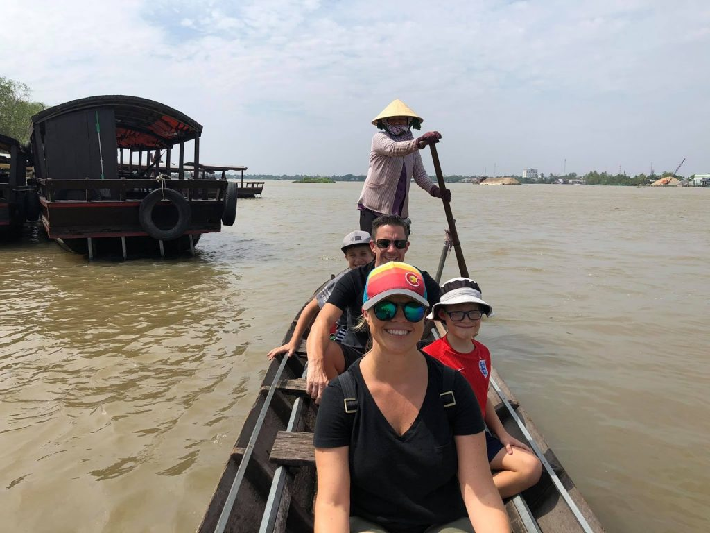 Chill and relax on the boat in Mekong