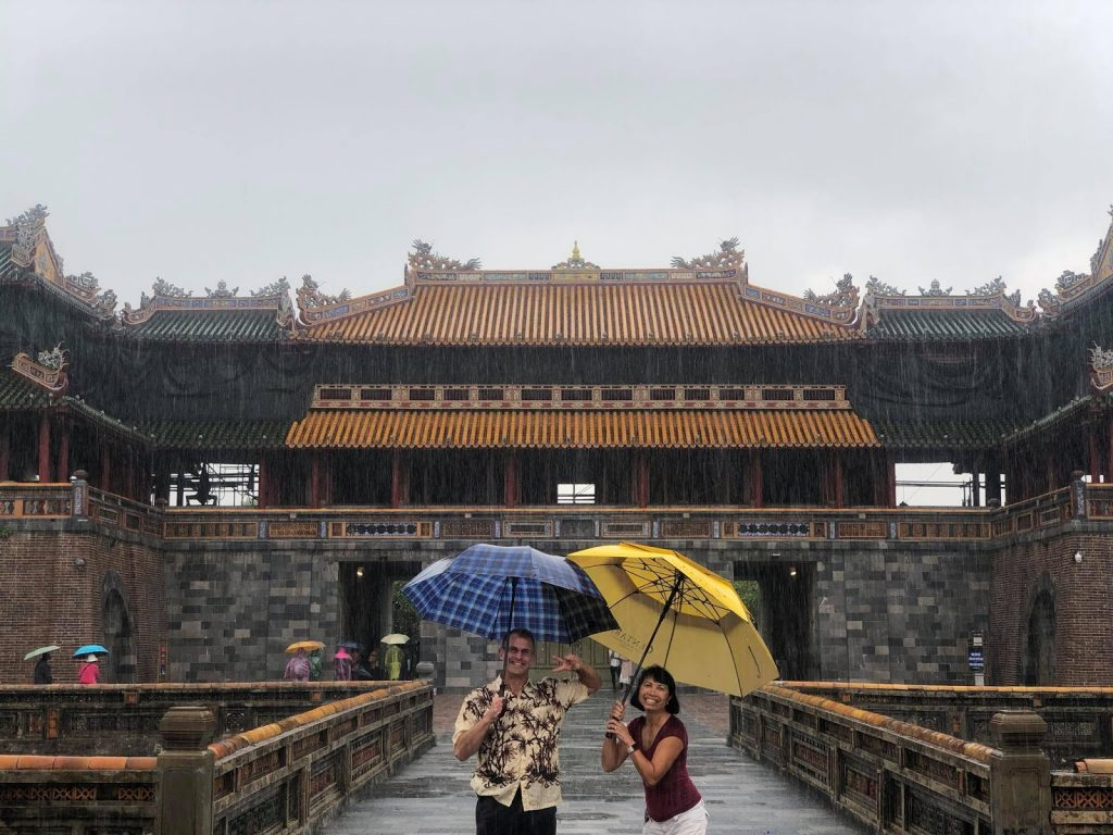 Exploring Hue citadel on a rainy day