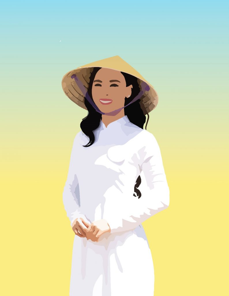 Ao dai and conical hat are the symbolic icons of Vietnam.