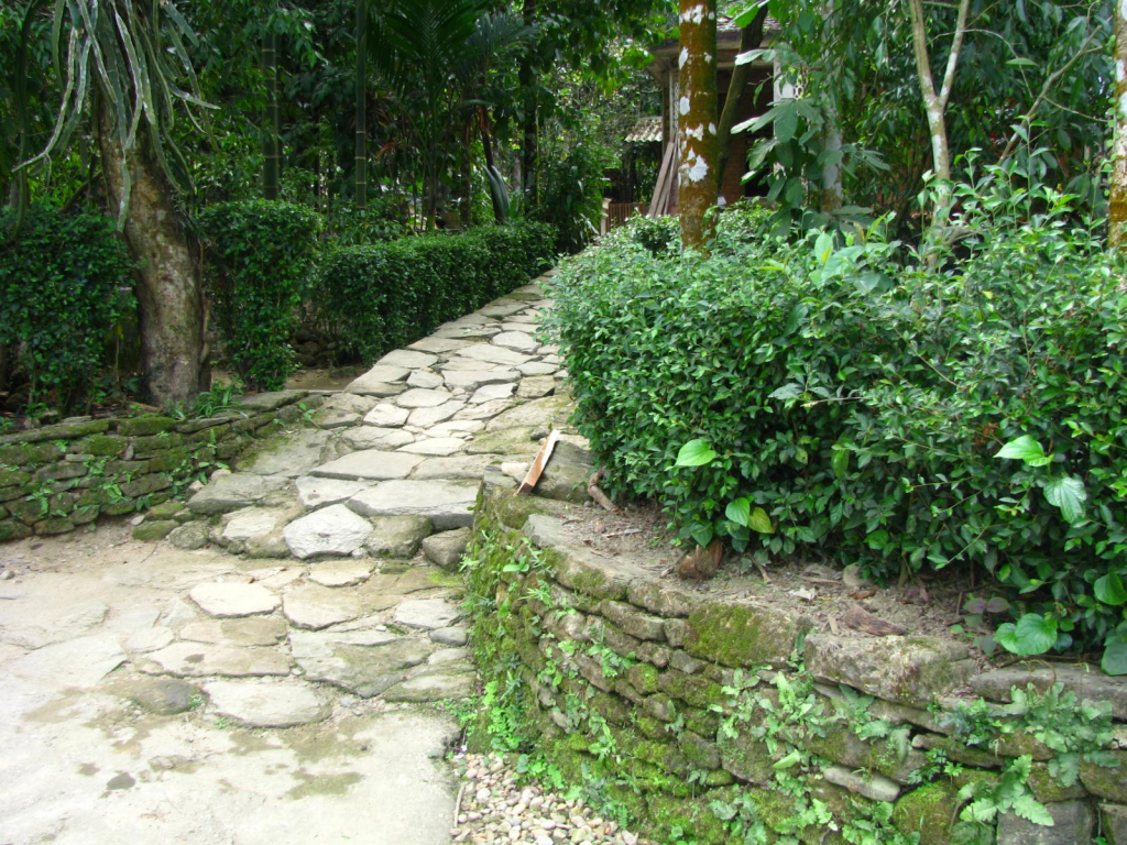 Old-age houses and stone-paved lanes make Loc Yen village become one-of-a-kind.