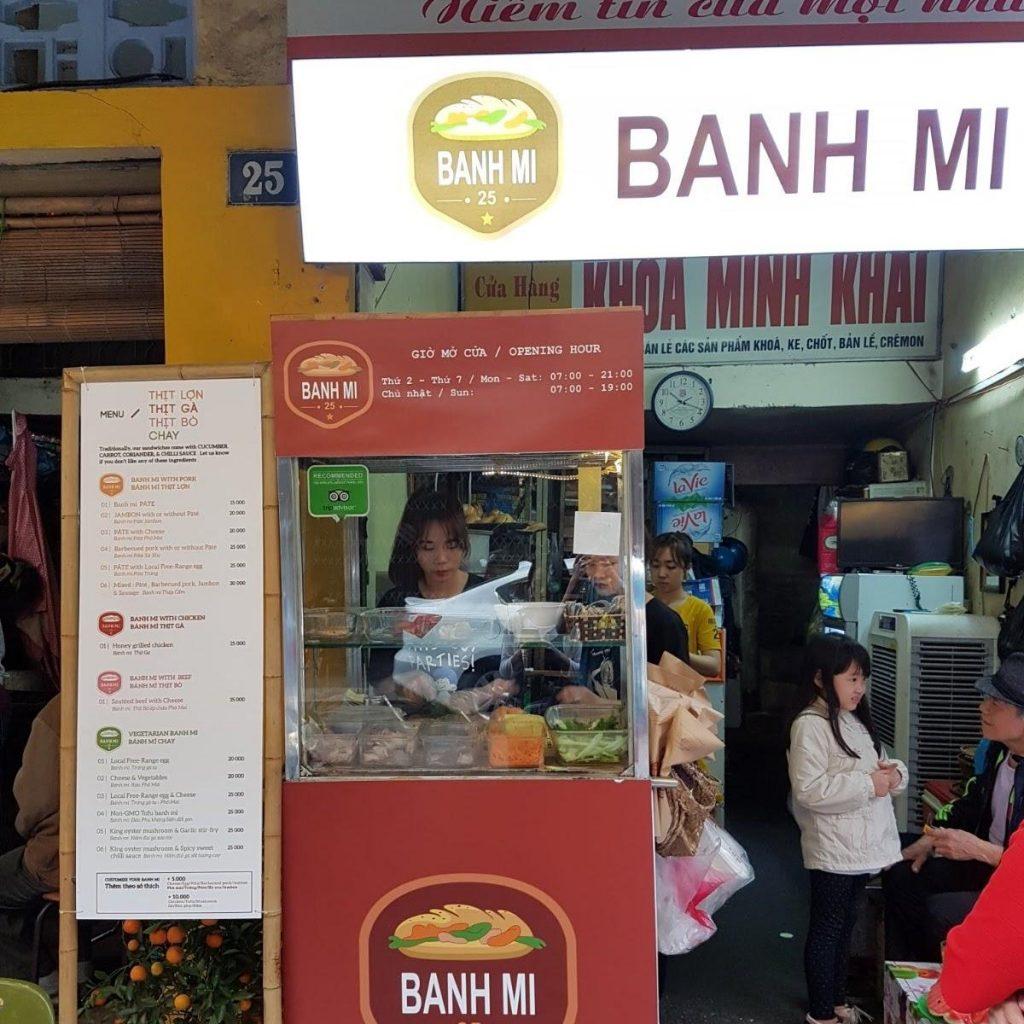 Ha Noi Food: Banh Mi 25 – 25 Hang Ca
