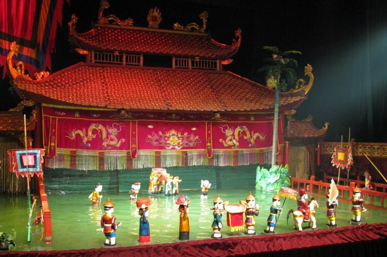2. Water Puppet Show in Hanoi