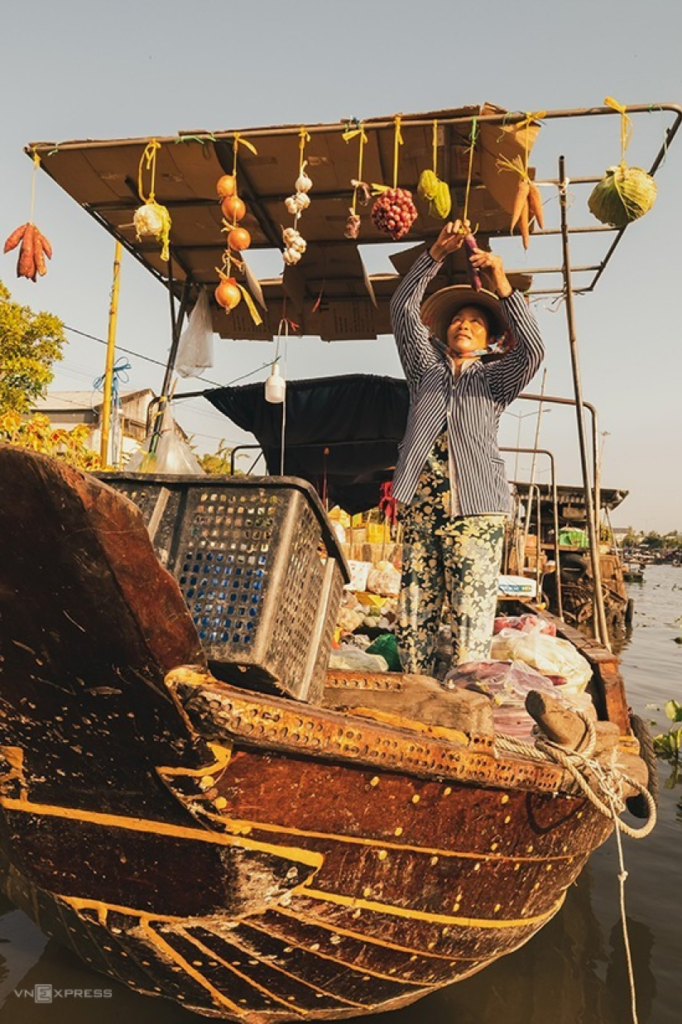 Nga Nam floating market Southwest Vietnam