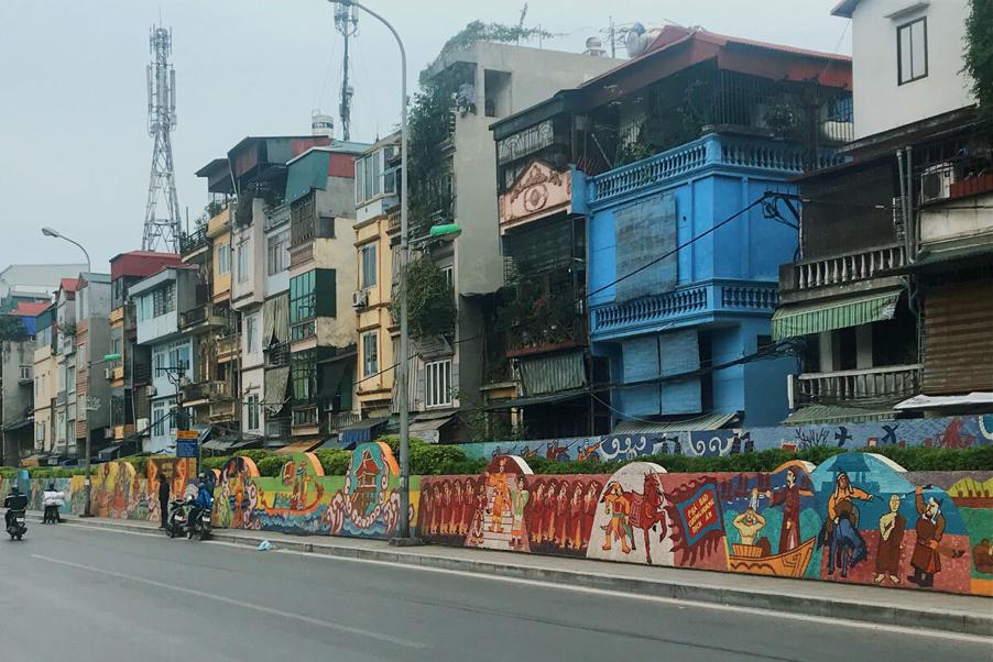 ceramic road in hanoi