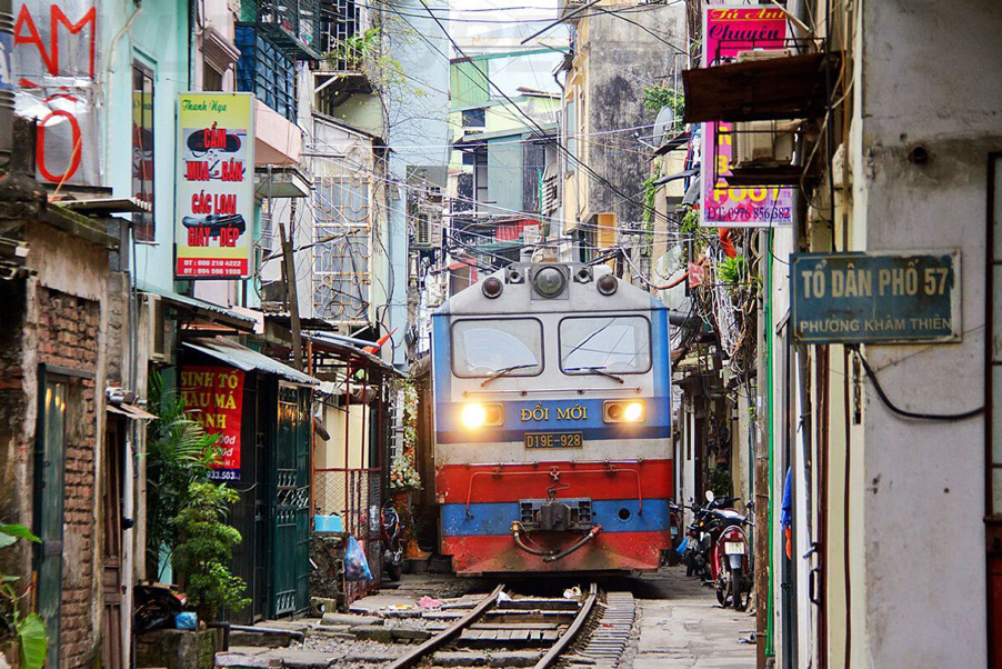 Train Street in Hanoi