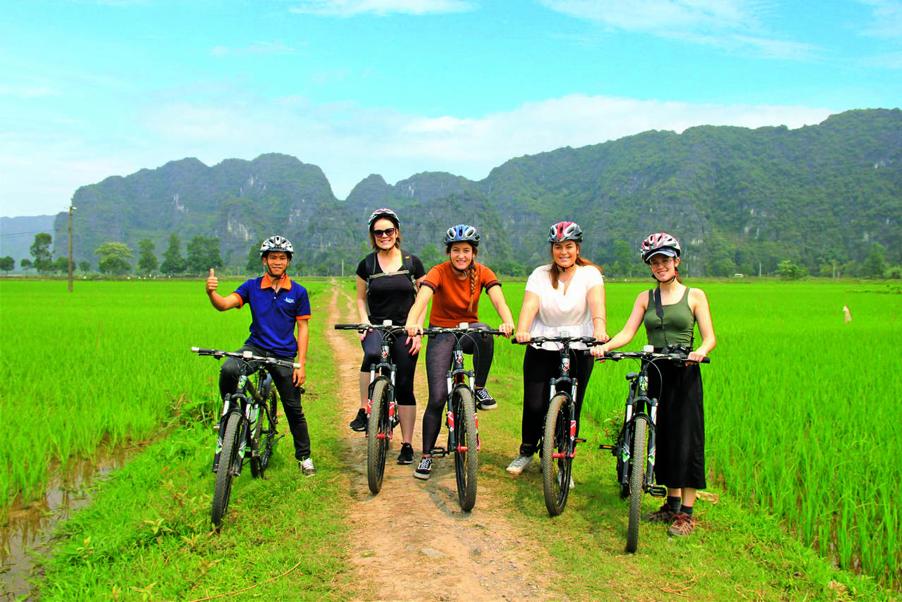 Biking in Ninh Binh
